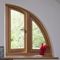 Arched Timber Casement Window in European Oak