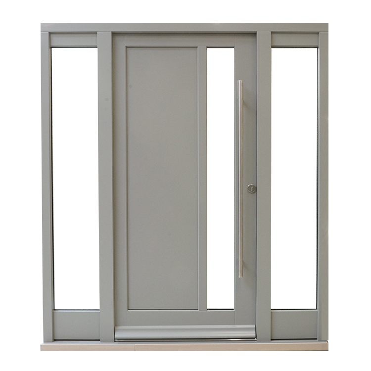 Contemporary Door Pebble Grey Fanlights T Bar