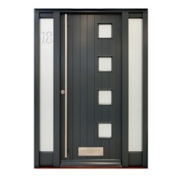 Contemporary Entrance Door with etched glazing