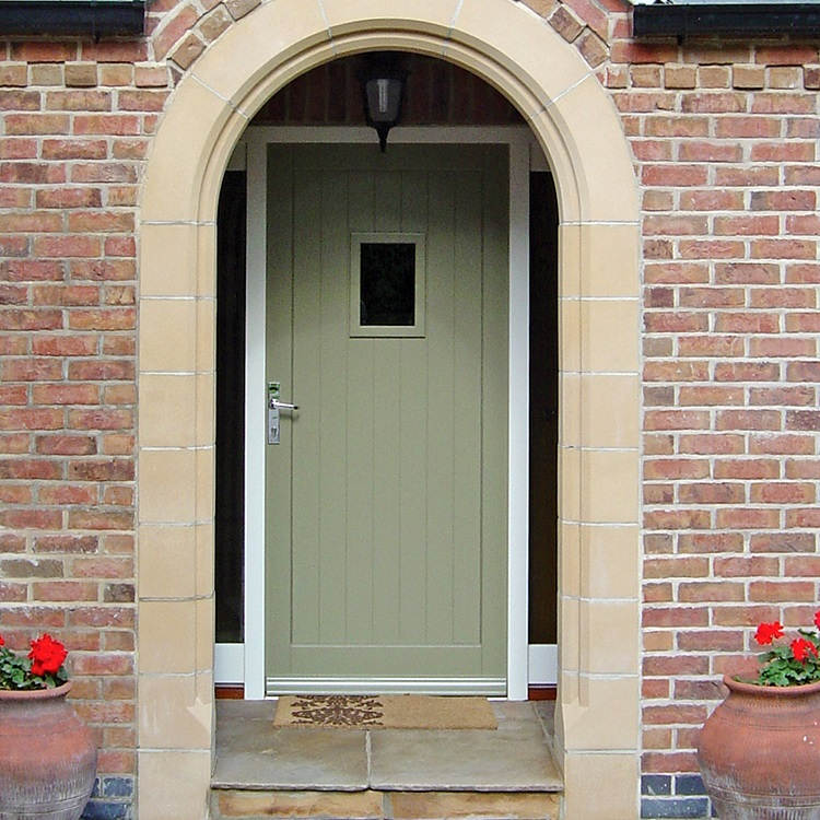 Green timber front door