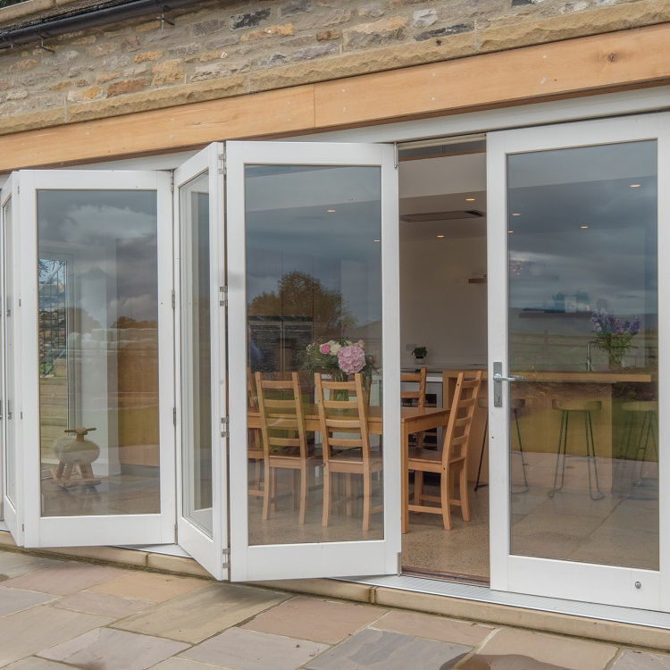 Leyburn Barn Conversion_Timber Bifold Door extrernal opening
