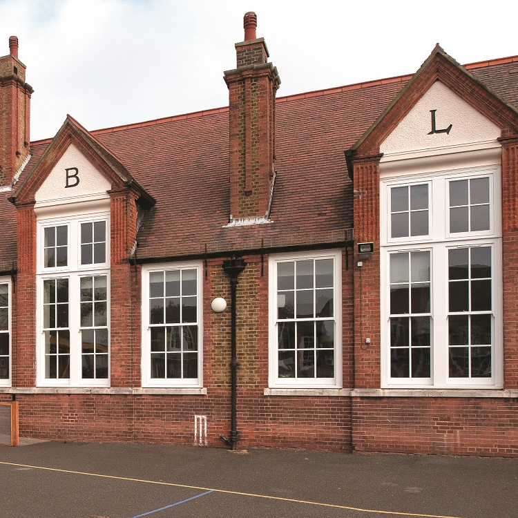Replacement Timber Sliding Sash Windows at Dulwich Junior School
