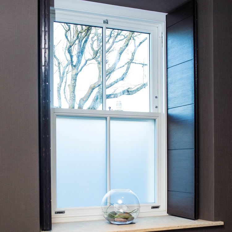 Spiral Blance Sash Window with Obscure Glazing