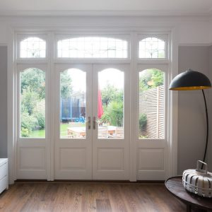 Timber French Doors with Fan Lights