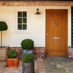 Timber Front Door with no glazing