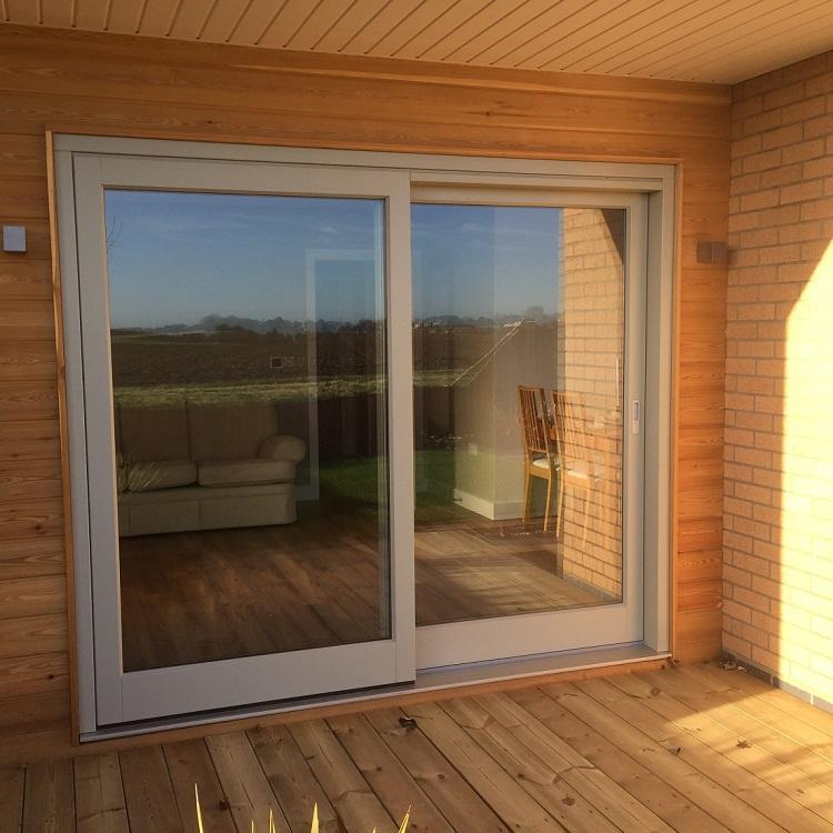 Timber Sliding door - ground floor of new build in Moutlon