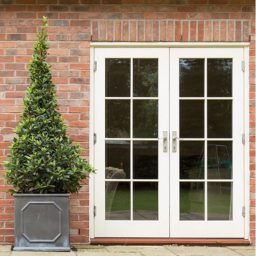 Traditional French Timber Doors - external garden view