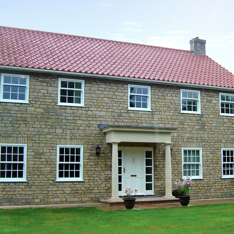 Traditional New Build with Timber Box Sash Windows