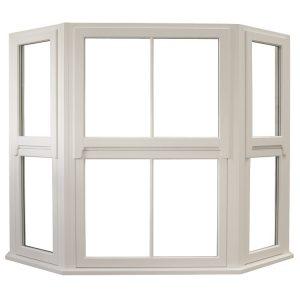 Traditional Regency Timber Flush Casement Window Angled Bay