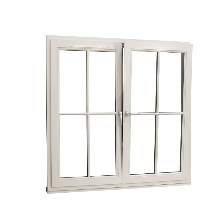 Traditional Tilt & Turn Window_French Mullion_Tilt In Position_Dual Colour Dark Stain_Internal_2012