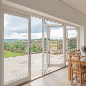 Traditional timber bifold doors