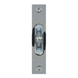 sash pulley polished chrome