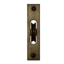 sash pulley antique brass