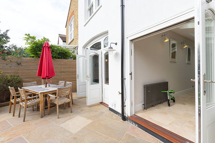 Patio area with Bifold and French doors