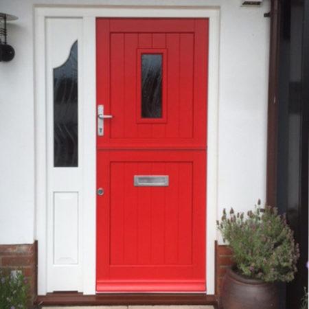 timber stable door red