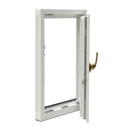 timber casement window open