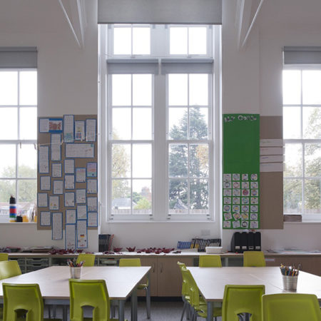 sliding sash windows classroom