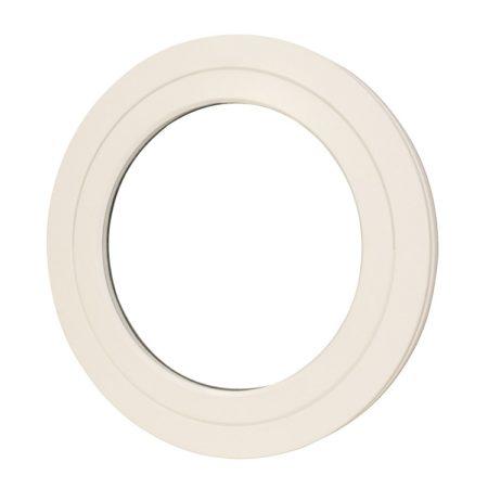 external wood circular white pivot window