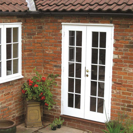 historic timber french doors