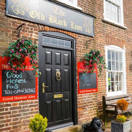 historic replica timber front door pub