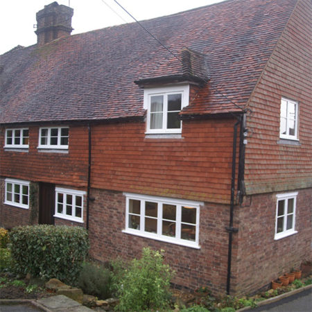 historic timber casement windows at grade ii listed cottage