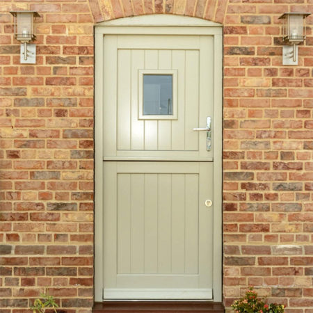 traditional timber stable door pebble grey closed