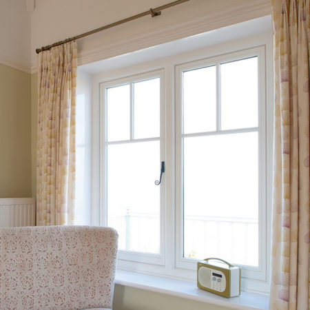 replacement timber casement windows in seaside villa
