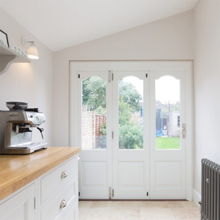 small timber bifold door for kitchen extension