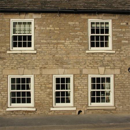 sliding sash windows in stone house