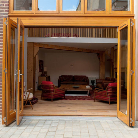 timber bifold doors accoya and stained