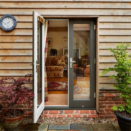 timber french doors dual colour coating
