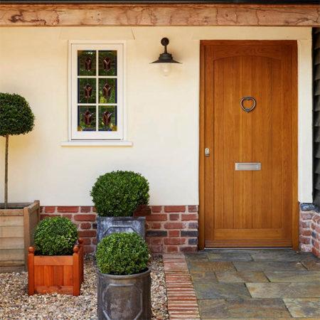 timber front door no glazing