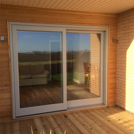 timber sliding doors ground floor new build