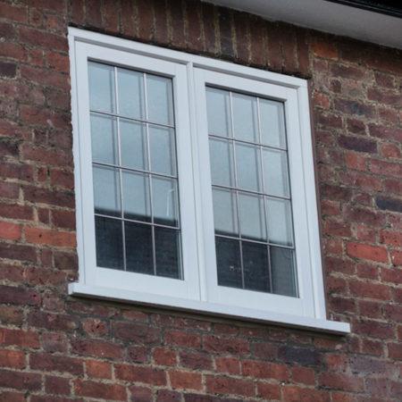 timber casement windows leaded glass