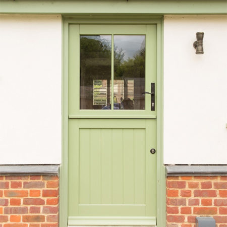 traditional timber stable door glazed