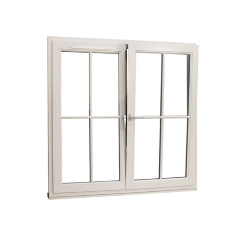 traditional tilt and turn window french mullion dual colour