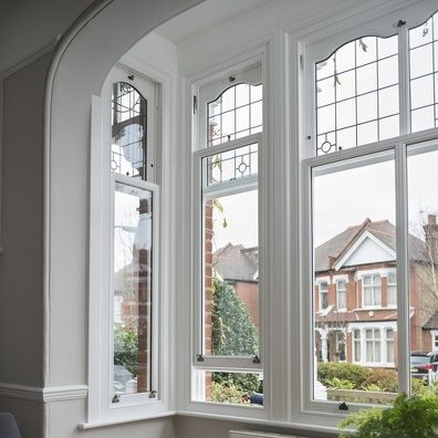 bay sliding sash window