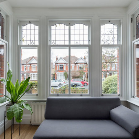 sliding sash bay window