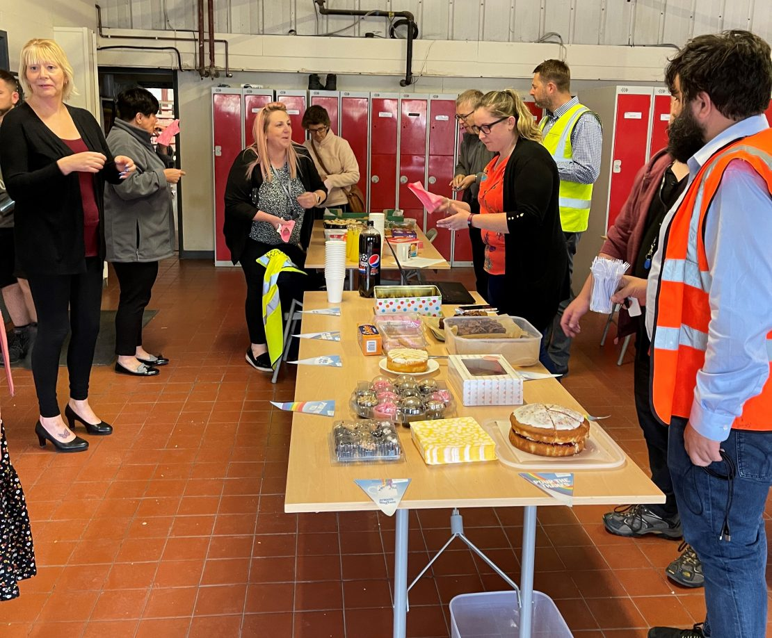 The George Barnsdale team came together to raise money for the NHS Big Tea